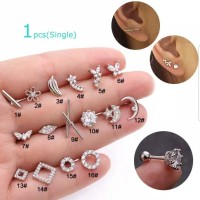 Piercing earring stainless helix tipe 1 - 8