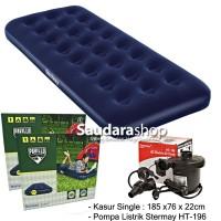 Bestway 67000 Kasur Angin Single [185cm x76cm x 22cm] + Pompa 58090