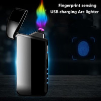 Korek Api Elektrik Fingerprint Sensor LED Pulse Plasma Elegan