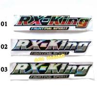 sticker stiker motor timbul emblem yamaha rx king hologram(nyala)