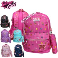 tas ransel sekolah anak perempuan alto silver girl