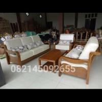 kursi sofa bahan kayu jati bantalan busa tebal warna jok bisa request