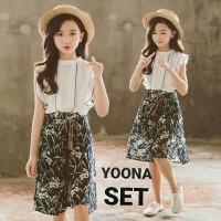 BAJUKIDDIE YOONA SET baju anak perempuan setelan model korea import