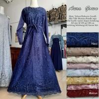 AuraGown (Standart dan Jumbo)/ Gamis Brokat Modern / Baju Muslim Syari