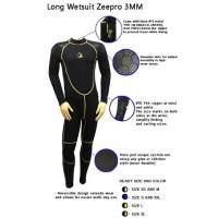 Baju Selam Neoprene Diving Snorkling Long Wetsuit Scuba ZEEPRO 3MM