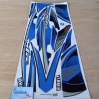 Stiker Striping Motor Yamaha Mio soul MX biru
