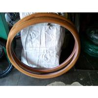 ban luar sepeda onthel warna coklat bata ukuran 28 merk swallow