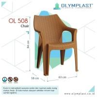 Olymplast OL 508 Kursi Bangku Sender Plastik Rotan Anyaman