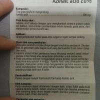 TERMURAH AZELAIC AZALEIC ACID AZA 20 % BEST QUALITY