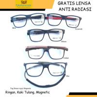 Frame Kacamata Minus Tag H 0522 Magnetic Gratis Lensa Anti Radiasi