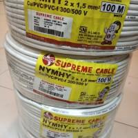 kabel supreme serabut nymhy 2x1,5mm per meter