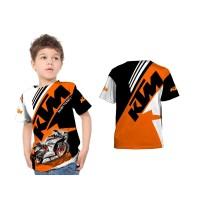 2s5 - Kaos Baju Anak KTM Racing Kaos Otomotif Fullprint Custom