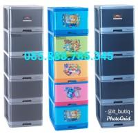 Excel Container L5 XC-17 Lion Star Lemari Plastik Large Susun 5 Gosend