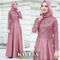 Kaela Brokat Maxy - Baju gamis brokat - Baju kondangan wanita muslimah