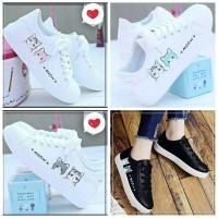 Sepatu Kets Pria Wanita Meow Sepatu Sneaker Kasual Putih Anak Cewe Cwo