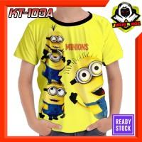 Kaos Minions Nongol Baju Kartun anak