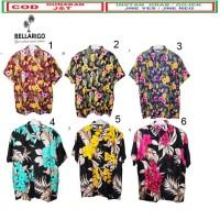 Baju Kemeja motif bunga baju pria dan wanita pantai bali hawaii