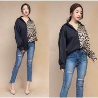 Kemeja Kombi Leopard [Baju Atasan Wanita 0117] TDT
