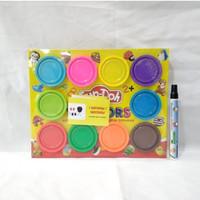 Mainan Fundoh 10 Colors Mix Refill Isi Ulang Lilin Playdoh