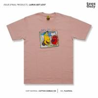 Kaos Distro Original - Larva Get Lost [ T shirt Cowok T shirt Cewek ] - Merah Muda, S