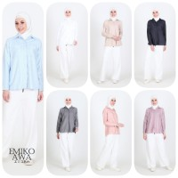 Kemeja Wanita Polos Basic - Emikoawa Atasan Wanita Muslim Korea Busui
