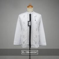 baju Koko putih premium bordir x matahari depstore