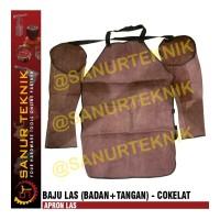Baju Las / Apron Las Cokelat (BADAN + TANGAN)