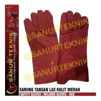Sarung Tangan Las Kulit Merah / Safety Gloves / Welding Gloves RED