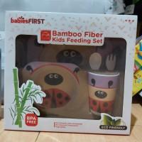 Bamboo Fiber Kids Feeding Set Babies First Lady Bugs