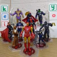 Avenger Small Isi 10 Action Figure Mainan 10 pcs figur avengers