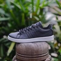 ADIDAS NEO ADVANTAGE CLOADFOAM BLACK BLACK WHITE Sepatu Original