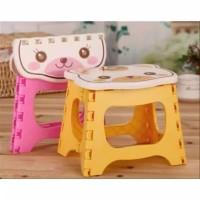 Kursi Bangku Lipat Mini Portable Motif Karakter Untuk Anak Bayi Lucu I