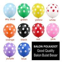 BALON POLKADOT PESTA   Balon Ulang Tahun   Balon Latex Warna