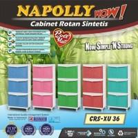 Baru Lemari Plastik Napolly / Rak Plastik 6 Pintu / 3 Susun Crs-Xu 36