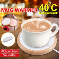 USB Coffee Mug Cup Warmer Pad Electric Heater Plate Desktop Keep