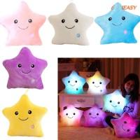 Bantal Bentuk Bintang dengan Lampu LED Warna Warni lampu tumblr