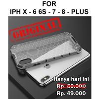 Honeycomb case iPhone X - 6 6s - 7 - 8 Plus casing hp cover fuze armor