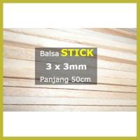 Hot K5 Stick Kayu Balsa 3Mm 3Mm X 50Cm