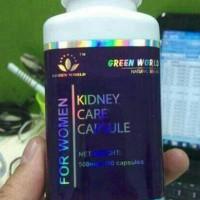 KIDNEY CARE CAPSULE FOR WOMAN GREEN WORLD/OBAT GINJAL WANITA Terjamin