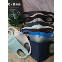Navy Edition Qmask original / masker Wajah anti debu