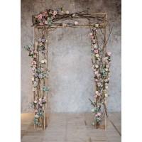 backdrop dekorasi flower / lamaran / wedding (basic package)