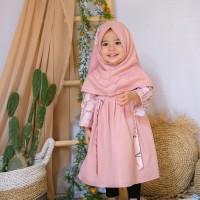 gamis anak/baju muslim anak bahan katun jepang