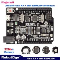 Arduino Uno + Wifi ESP8266 NodeMCU 8M Flash + Atmega328 + CH340 Wemos