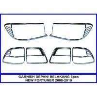 Paket Garnish Garnis Lis Lampu Depan Belakang New Fortuner 2008 - 2010