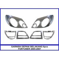 Garnish Garnis Lis Lampu Depan Belakang fortuner 2005 - 2007 Chrome