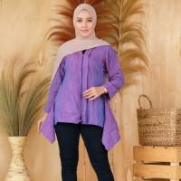 Blouse Batik Lurik Asli Halus kode Kevia Purple PREMIUM