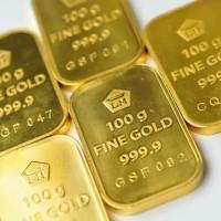 Logam mulia (LM) antam 100 gram fine gold vertikal