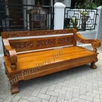 Bangku Jawa kayu jati - kursi besar model klasik - bale-bale ukir