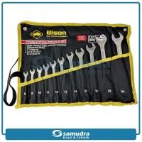 BISON Kunci Ring Pas Set 11 Pcs 8 mm - 24 mm Kunci RingPas 11Pc 8-24mm