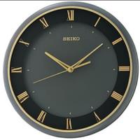 Jam Dinding Seiko Japan QXA683K QXA683 Black Gold ORIGINAL